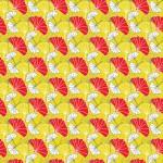 Okker ginkgo design egyedi szublimált textil méteráruhoz
