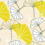 Föld biloba design egyedi szublimált textil méteráruhoz