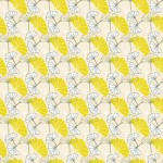 Föld ginkgo design egyedi szublimált textil méteráruhoz