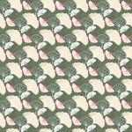 Olíva ginkgo design egyedi szublimált textil méteráruhoz