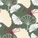 Olíva ginkgo verzió design egyedi szublimált textil méteráruhoz