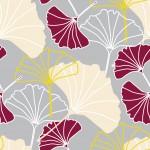 Tarka biloba design egyedi szublimált textil méteráruhoz