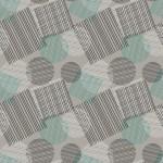 Türkiz geometria design egyedi szublimált textil méteráruhoz