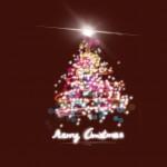 Karácsonyfa bordó design egyedi szublimált textil méteráruhoz