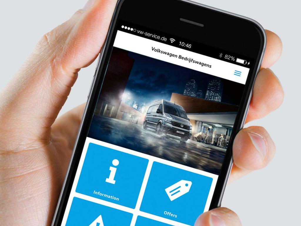 De Mijn Volkswagen Bedrijfswagens app
