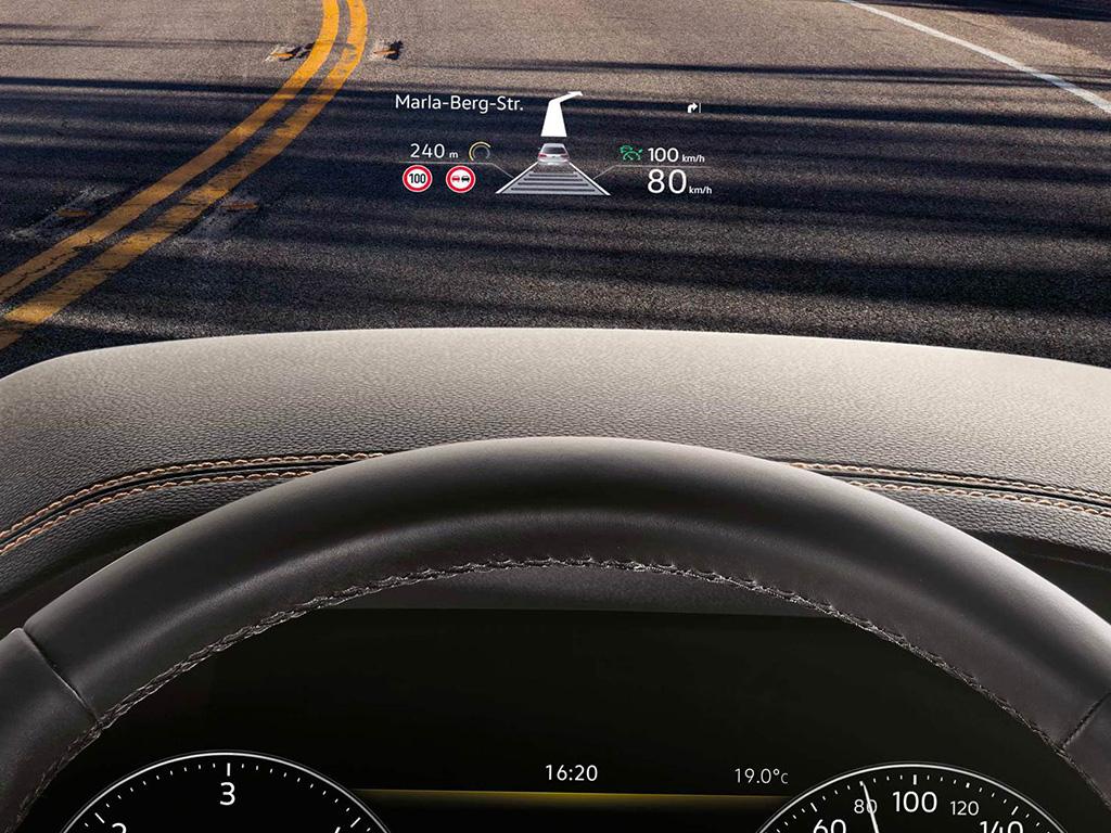 Volkswagen Touareg - Head up display