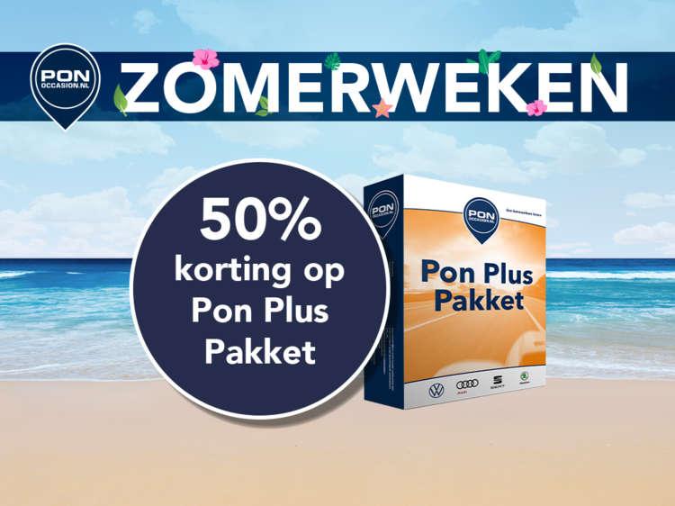 Pon Occasion Zomerweken - Actieblok 2 - 50 procent korting Pon Plus Pakket