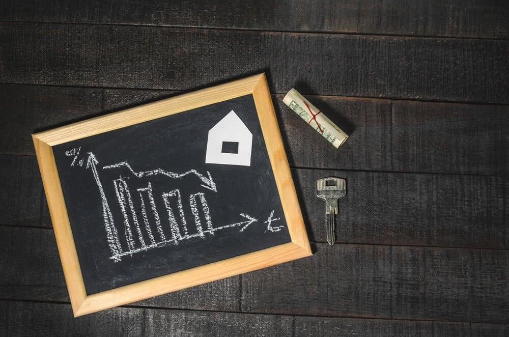 Tablica przedstawiająca oprocentowanie kredytu hipotecznego