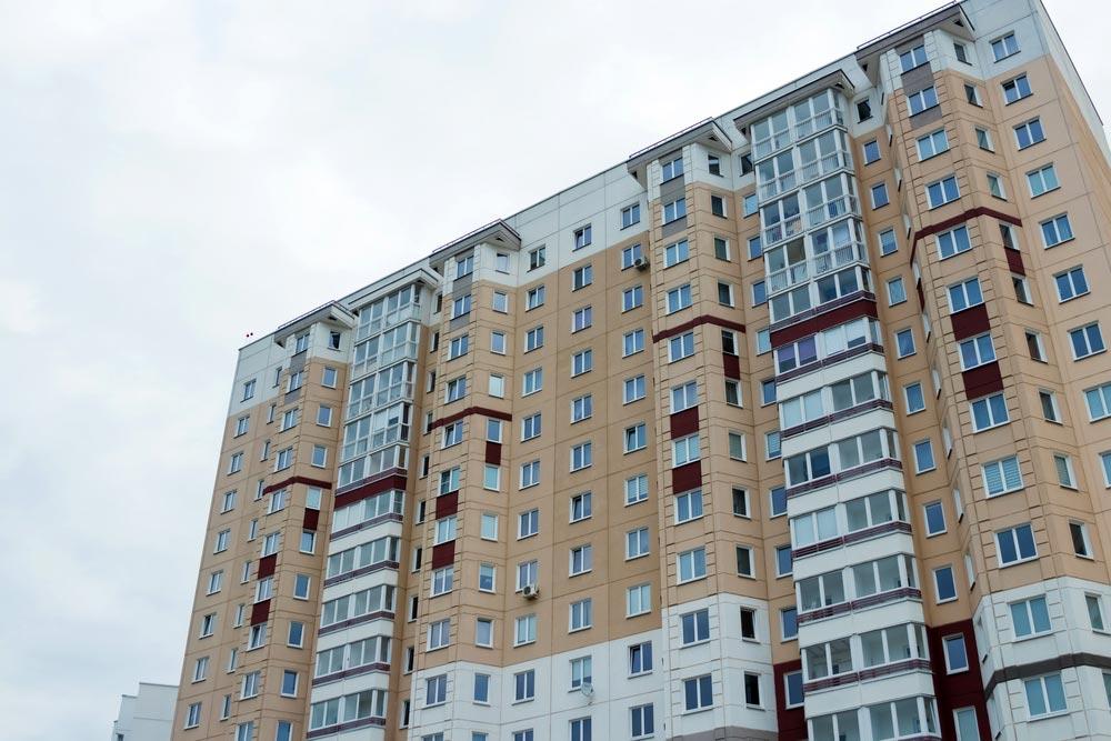 Blok z ubezpieczonymi mieszkania w TBS