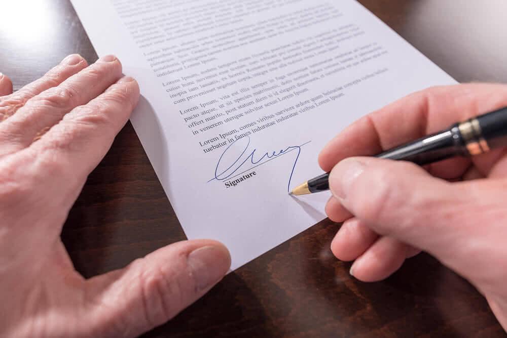 Podpis pod wypowiedzeniem umowy kredytu