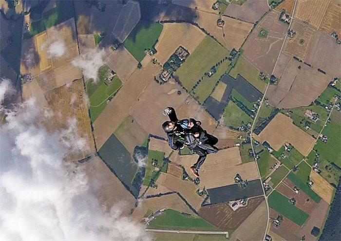 fallskärmshoppare och markent