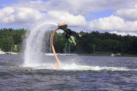 Flyboard bakåtvolt