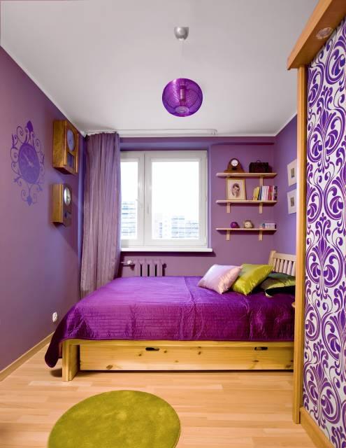 Wrzosowa Sypialnia ładny Dom