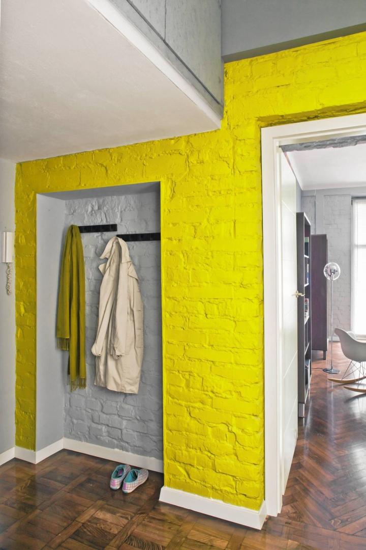 Szary Z żółtym We Wnętrzach Modne I Nowoczesne Połączenie