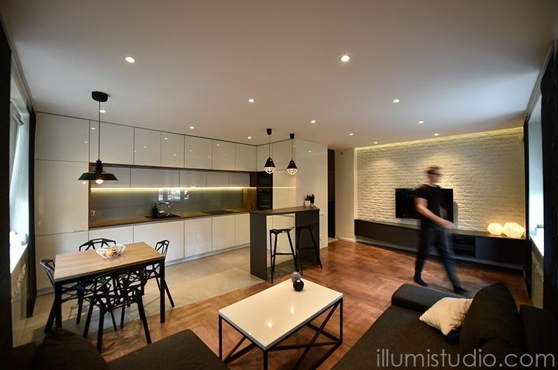 Metamorfoza Salonu Z Kuchnią W Starym Bloku ładny Dom