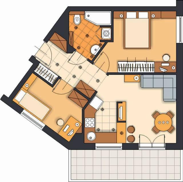 517 M Kw Dla 3 4 Osób Dodatkowy Pokój W Miejscu Kuchni