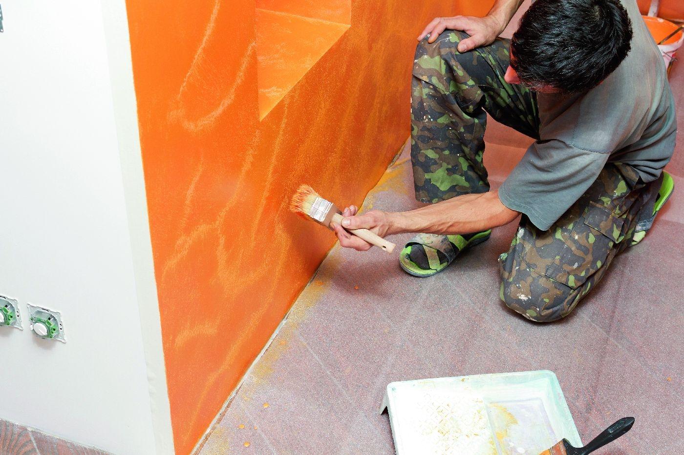 ściany Z Efektami 1 Farby Bejce I Lakiery ładny Dom