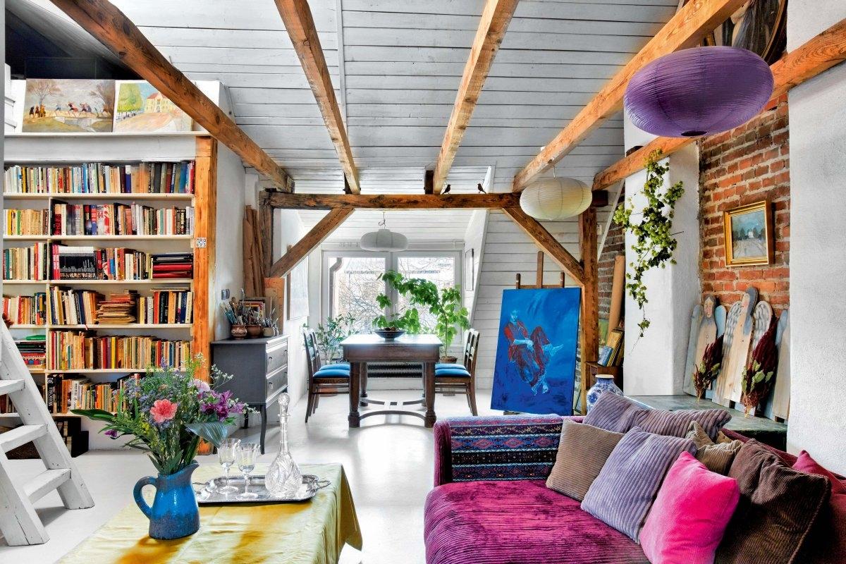 Belki Na Suficie Sposób Na Oryginalne Wnętrze ładny Dom