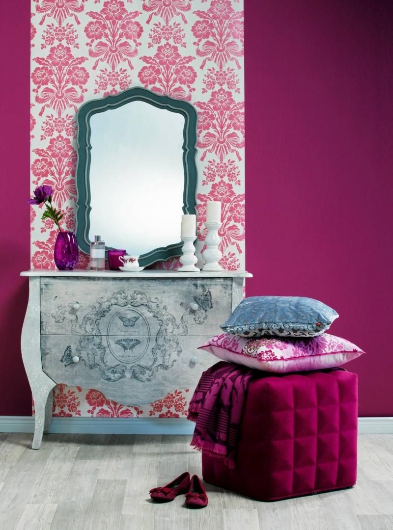 Kolor I Wzór Fuksja ładny Dom