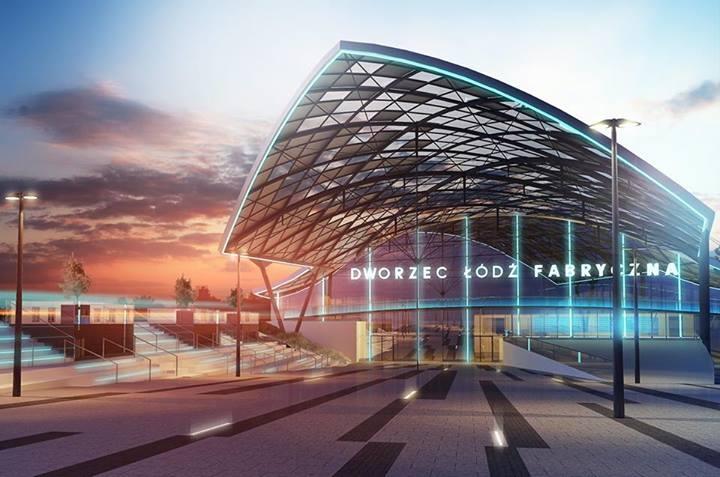 Dworzec łódź Fabryczna Nowe Wizualizacje