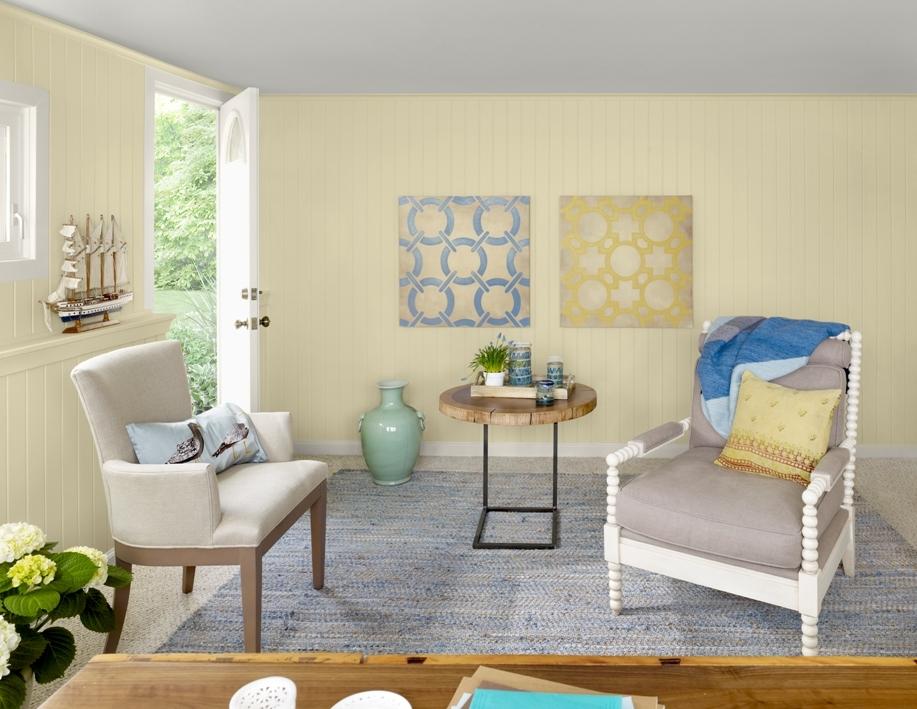 łączenie Kolorów Cytrynowy Odcień Wiosny ładny Dom