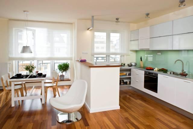 Aranżacja Jednolita Kuchnia Z Jadalnią ładny Dom