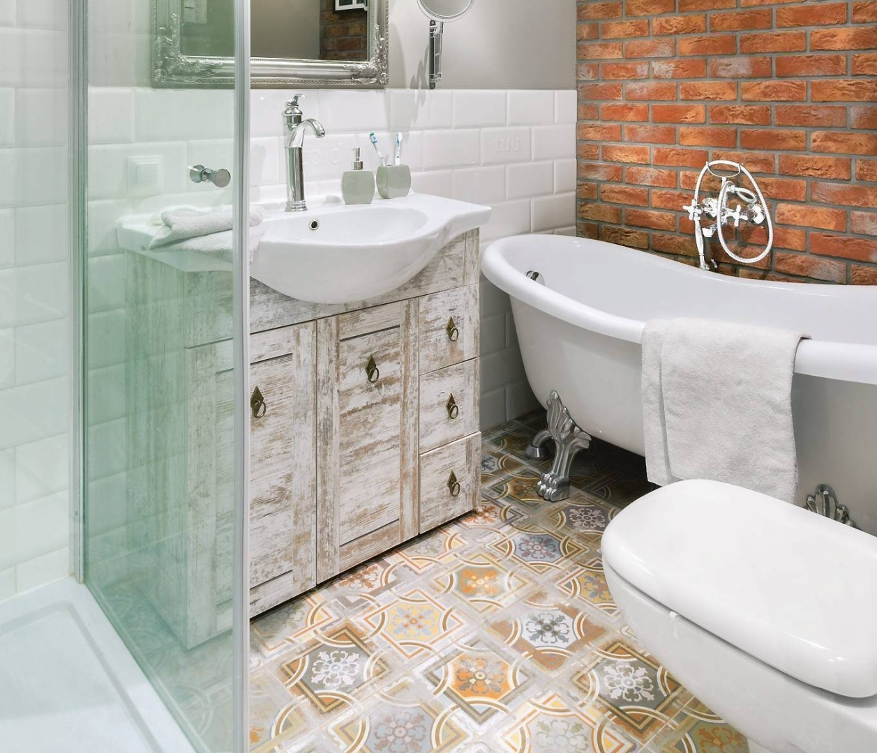 Kolorowe Płytki W łazience Aranżacje ładny Dom