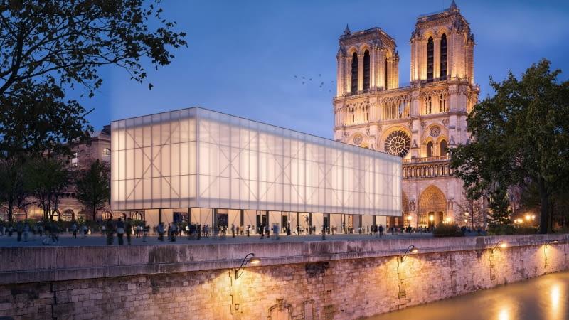 Pawilon przed Notre-Dame. Proj. Gensler.