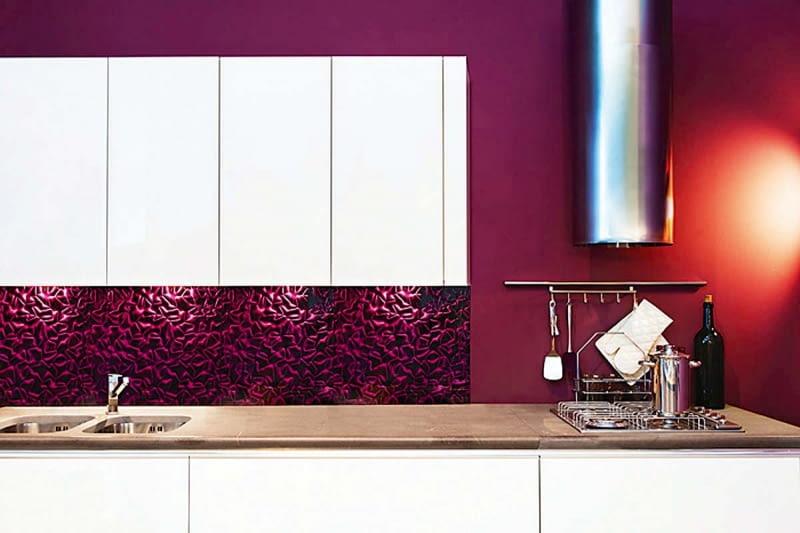 Płytki szklane Silky Violet 3D Mazu, wym. 60 x 60 x 0,5 cm, cena 190 zł/m2, DUNIN