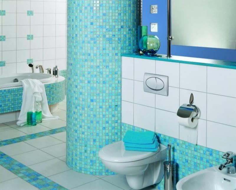 Kolorowe łazienki