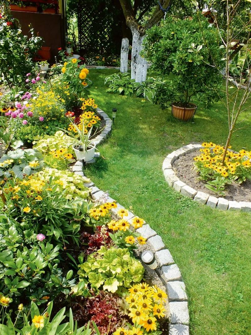Od wiosny do jesieni działka cieszy oczy żywymi kolorami kwiatów.