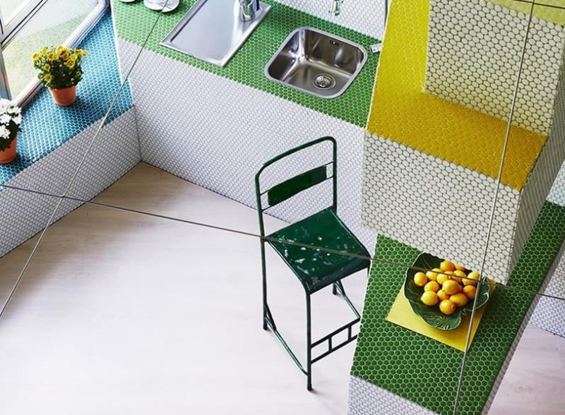 Mieszkanie udekorowane mozaiką