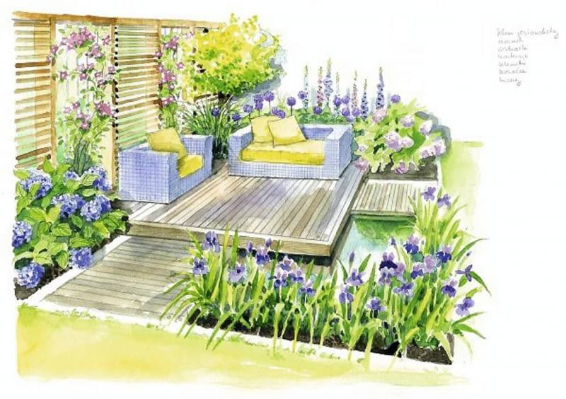W nowoczesnych ogrodach sprawdzają się rośliny o wyrazistych formach: stanowić jeżówka, miskant, liliowce, języczka Przewalskiego, trytoma