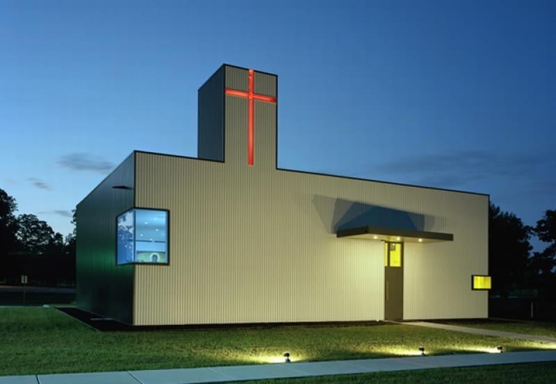 Kaplica św. Mikołaja w Springdale (Arkansas, USA), 2010. Projekt- Marlon Blackwell