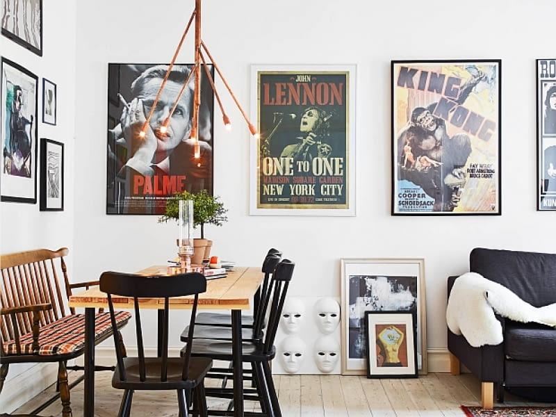 małe mieszkanie, mieszkanie w skandynawskim stylu, jasne mieszkanie, jak urządzić mieszkanie