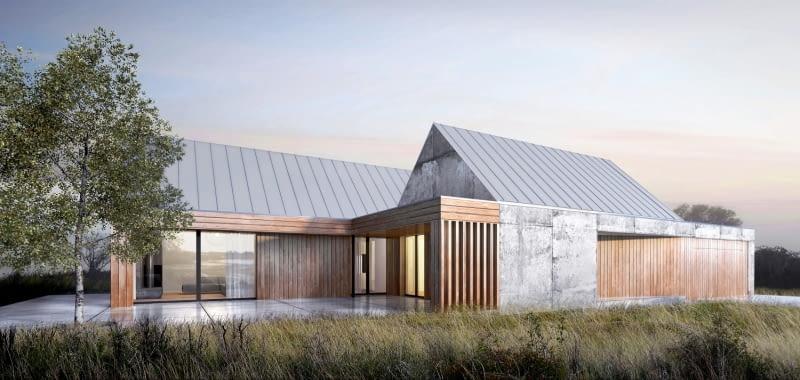 Projekt domu jednorodzinnego w Chwalęcicach, projekt Spacelab