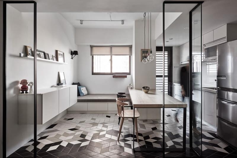 mieszkanie, aranżacje wnętrz, nowoczesne mieszkanie, mieszkanie w szarościach
