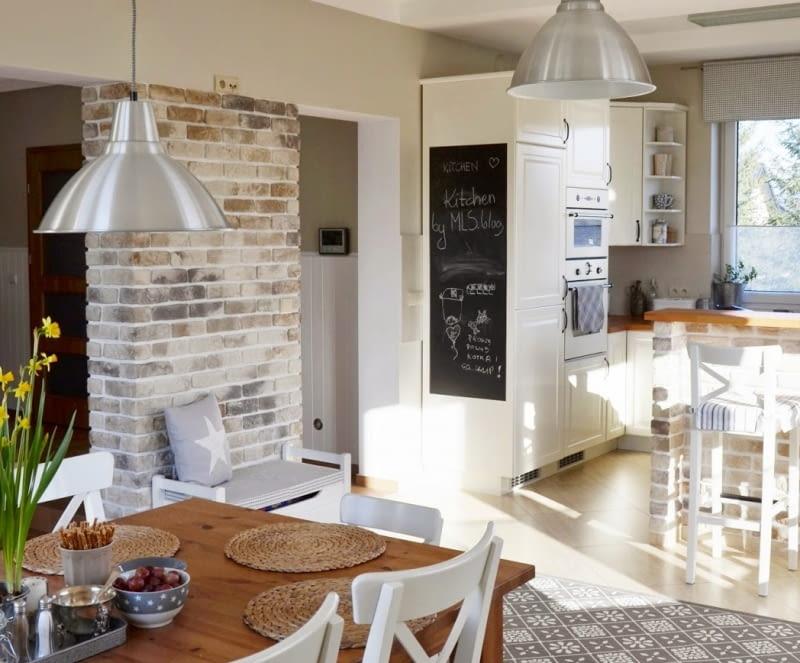 Kuchnia Z Jadalnią W Stylu Skandynawskim ładny Dom