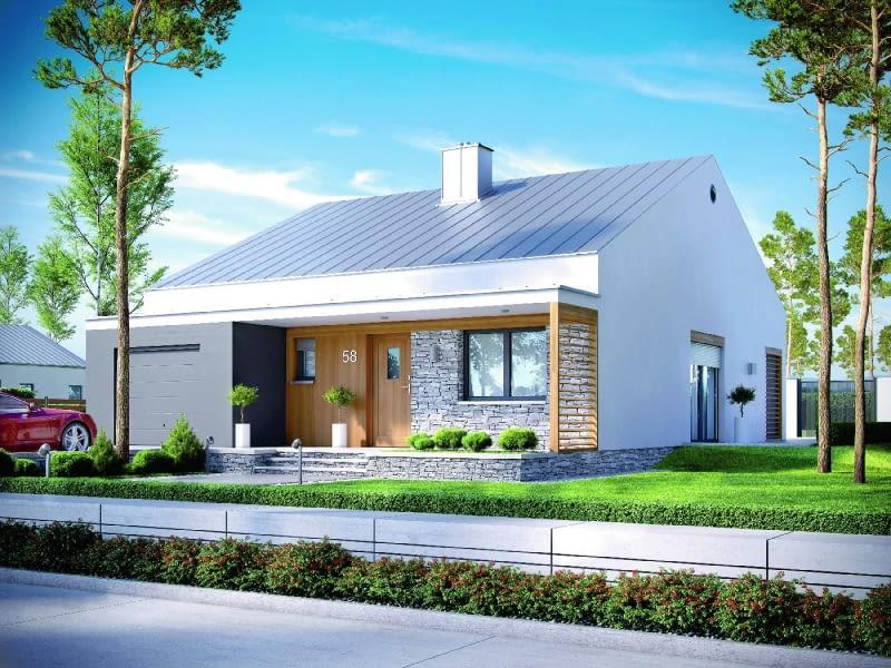 Projekt jest kolejnym dowodem na to, że można zaprojektować efektowny mały dom, używając ograniczonej palety środków formalnych. Na 88 m2 stworzono wygodną przestrzeń dla dwóch, a nawet trzech osób, która z pewnością przetrwa próbę czasu.
