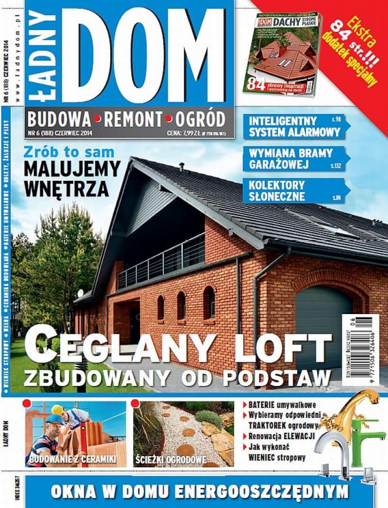 Okładka miesięcznika Ładny Dom 06/2014