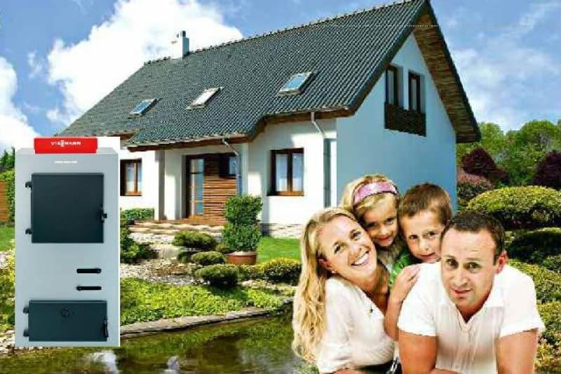 Państwo Zielińscy rozważają ogrzewanie domu kotłem na drewno