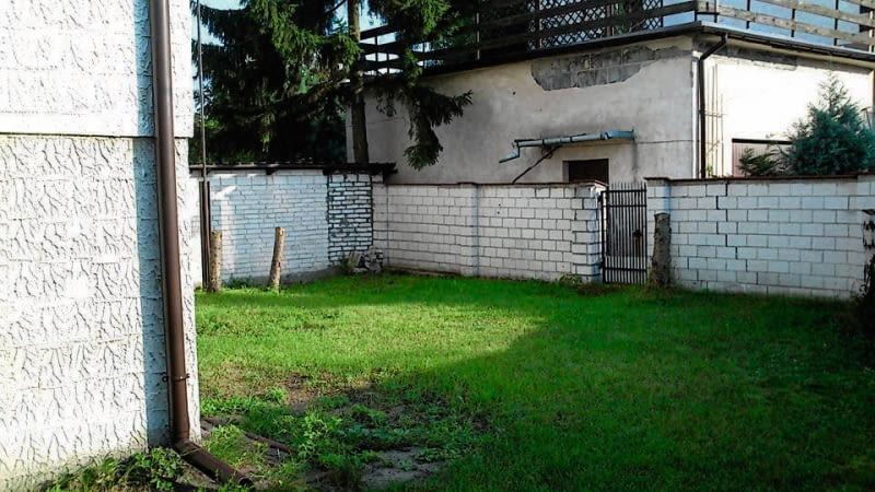 Widok ogrodu przed przebudową