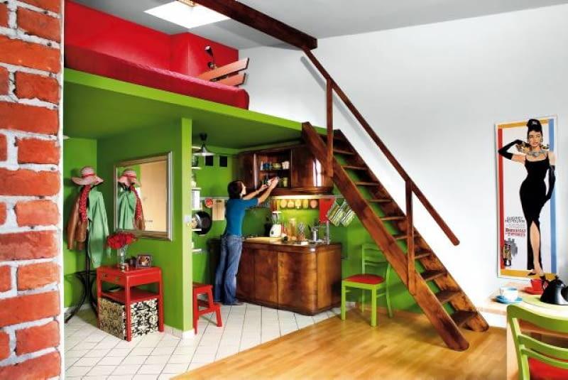 Wnętrza Z Antresolami ładny Dom