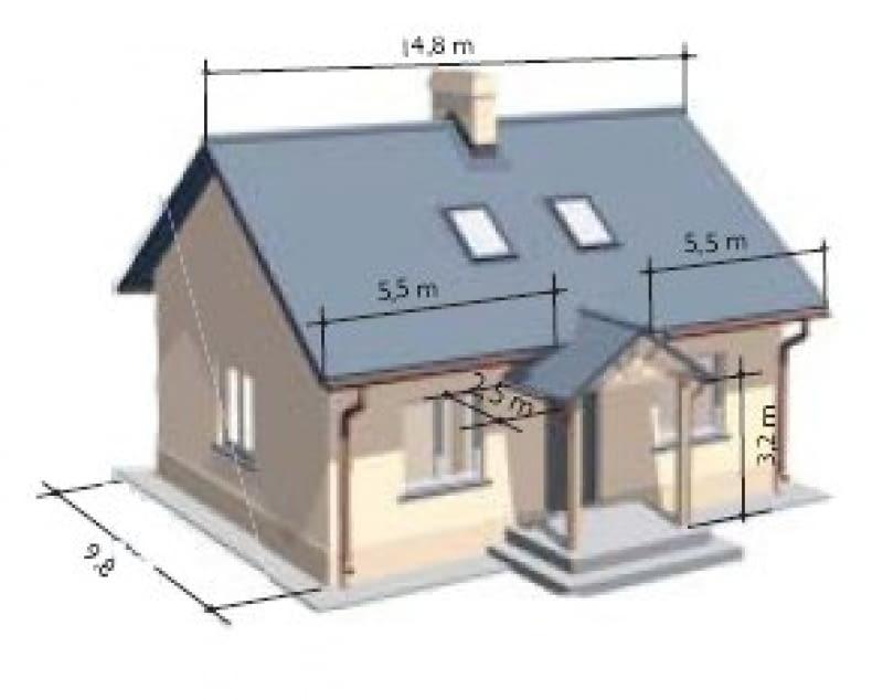 Obliczono na przykładzie tego modelowego domu.