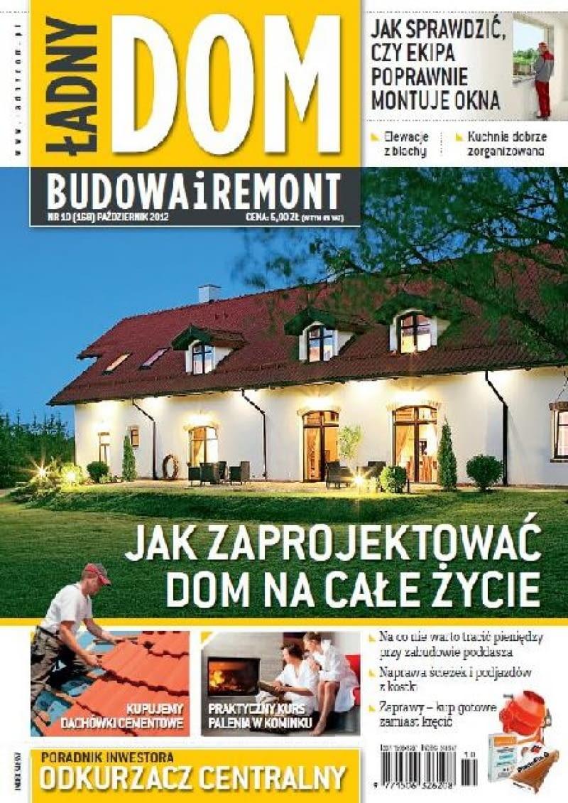 Okładka miesięcznika Ładny Dom 10/2012