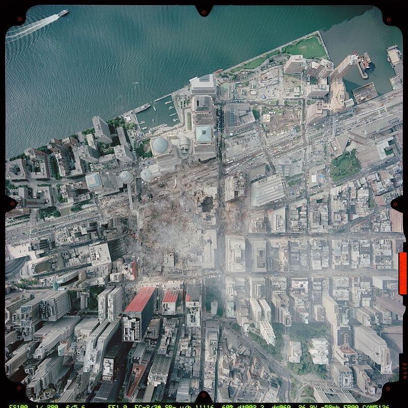 Strefa Ground Zero w Nowym Jorku, wrzesień 2001 r.