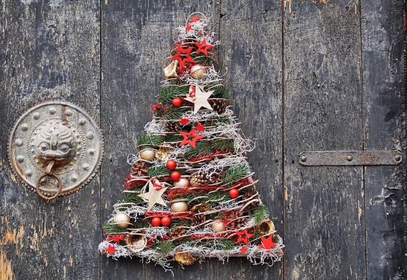 Dekoracja Drzwi Wejściowych Na Boże Narodzenie