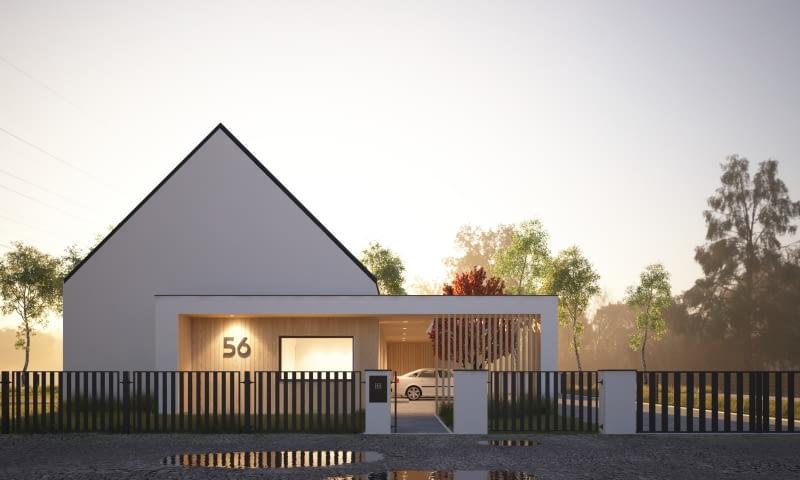 Dom jak nowoczesna stodoła. Proj. 3XB Architekci