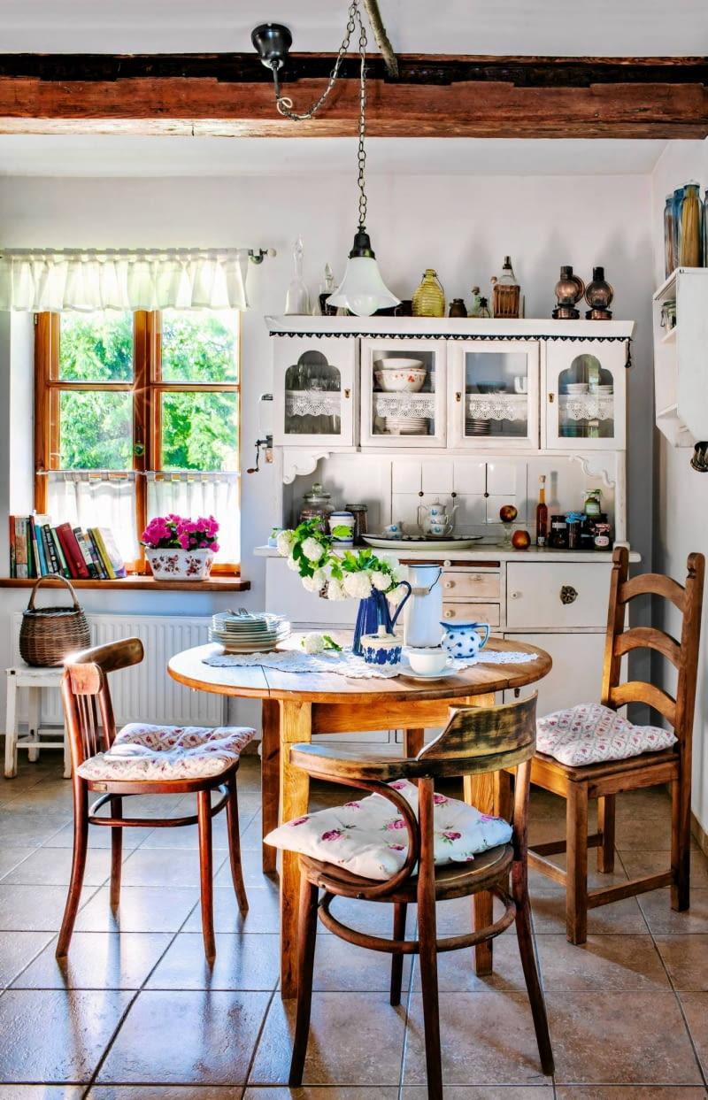 Styl Wiejski We Wnętrzach Zaczerpnięte Z Natury ładny Dom