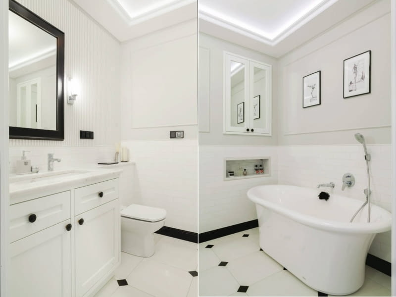Biała łazienka Na 6 M Kw